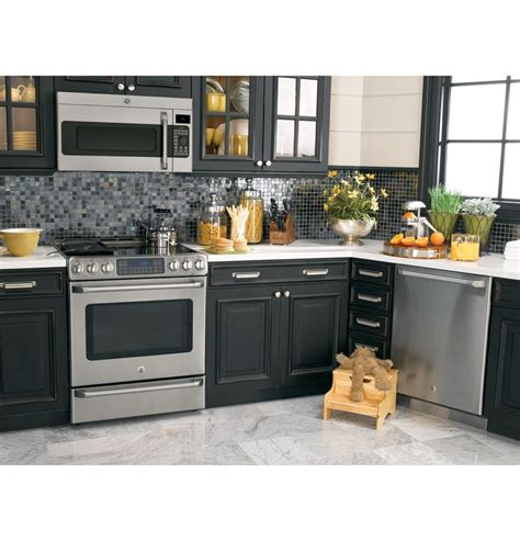 free standing dishwasher cabinet cs980stss ge cafe series 30 quot free standing radiant