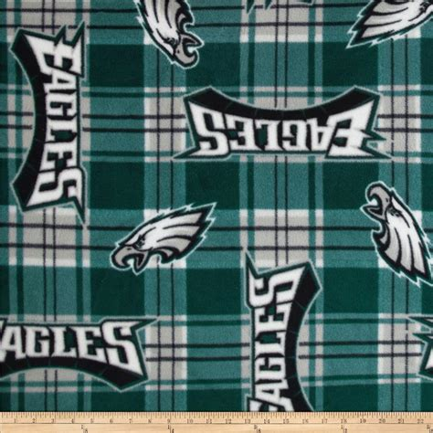 Philadelphia Upholstery by Nfl Fleece Plaid Philadelphia Eagles Green Discount