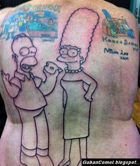 tato tengkorak kartun menarik lelaki ini mempunyai 203 tato watak kartun