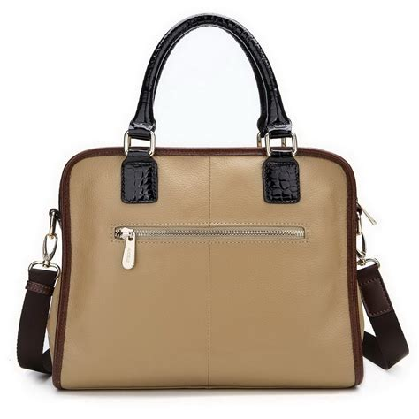wholesale leather tote bag apricot