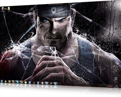 god of war 3 windows theme sounds icons cursors caborge download gears of war 3 windows 7 theme icons