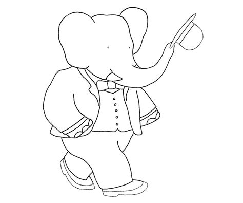 babar coloring pages az coloring pages