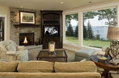 Living Room With Tv Fireplace Living Room Living Room Design With Corner Fireplace And