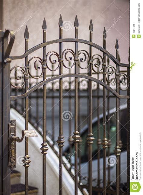 Wrought Iron Patio Doors Detail Of Patio Doors Made Stock Photo Image 40541615