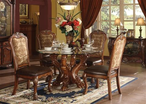 Acme Dining Chairs Acme Dresden 5 Pc Dining Table Set In Cherry By Dining Rooms Outlet