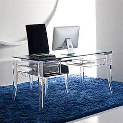 Acrylic Computer Desk Acrylic Home Office Desks For A Clearly Fabulous Work Space