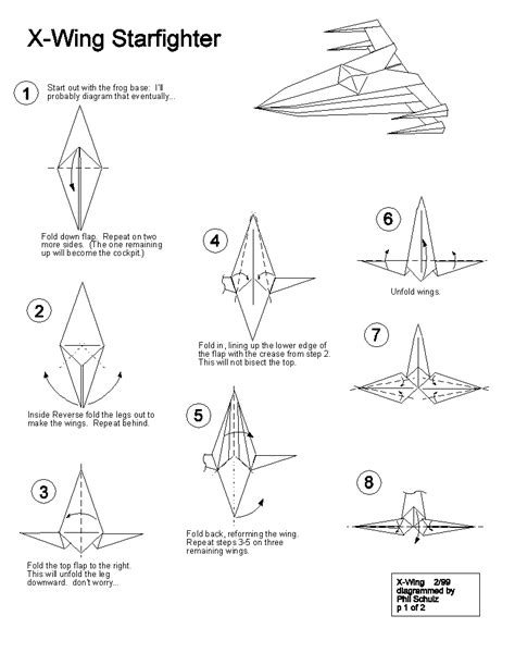 How To Make A Origami Wars Ship - origami x wing starfighter follow the link for the rest