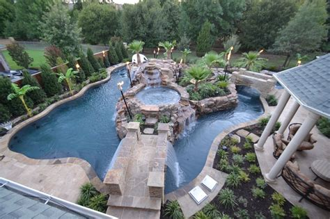 Big Backyard Landscape With Pool Fres Hoom Big Backyard Pools