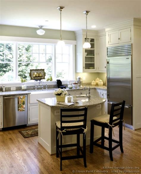 kitchen island in small kitchen designs cottage kitchens photo gallery and design ideas