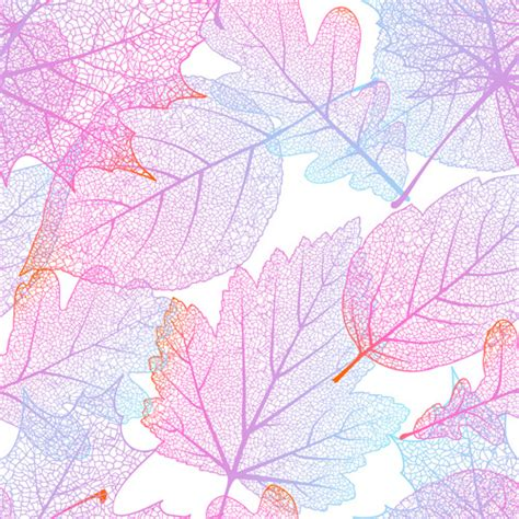 beautiful pattern beautiful autumn leaves vector seamless pattern free