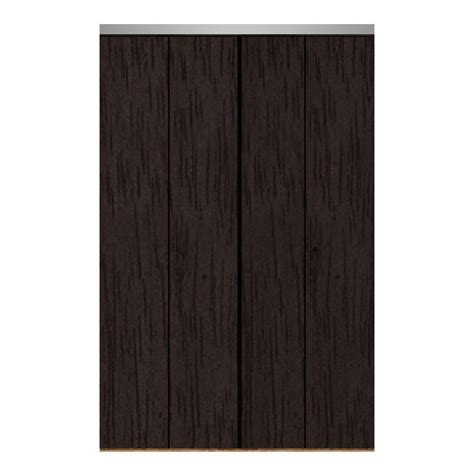 60 Bi Fold Closet Doors Impact Plus 60 In X 96 In Smooth Flush Espresso Solid Mdf Interior Closet Bi Fold Door
