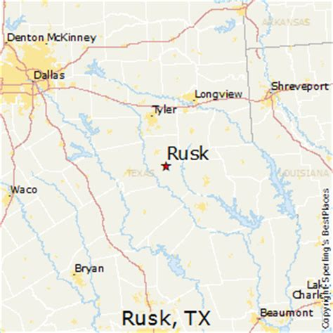rusk texas map best places to live in rusk texas