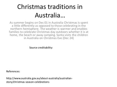christmas traditions in australia