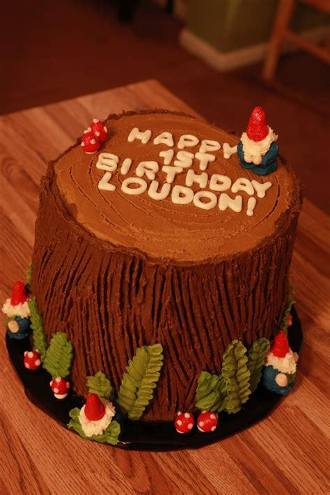 cake box girls woodland gnome birthday cake