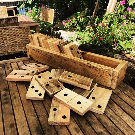 backyard wood projects large pallet dominoes in a sack pallets etsy and pallet