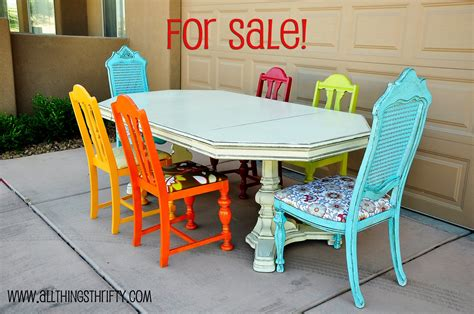 colorful dining room chairs dining room table transformation
