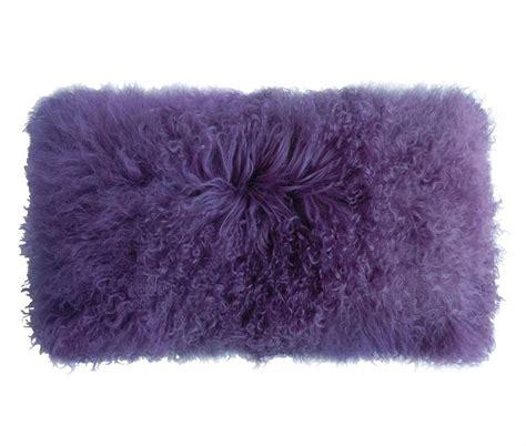 Lambskin Pillow by Tibetan Lambskin Curly Fur Kidney Pillows Lavender