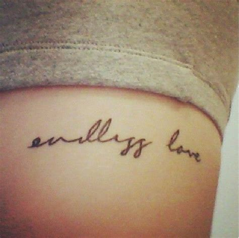 small font tattoo small endless rad tatts