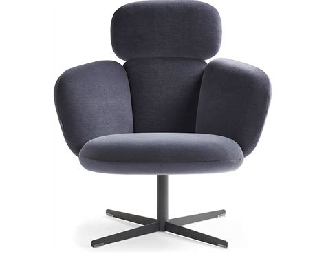 Bras Highback Swivel Base Lounge Chair Hivemodern Com Club Chairs That Swivel
