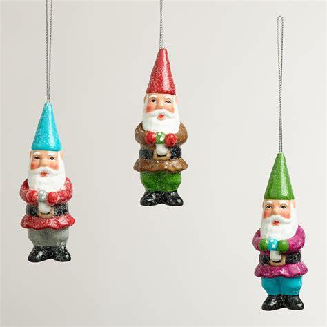paper pulp gnome ornaments set of 3 world market