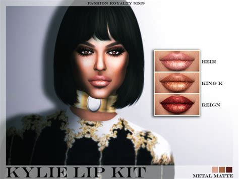 kylie sims 4 lip kit kylie lip kit metal matte at fashion royalty sims 187 sims 4
