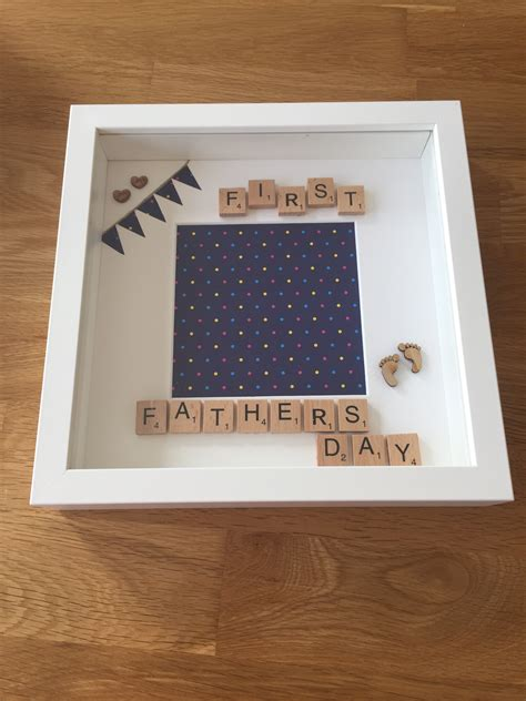 memory scrabble fathers day personalised memory frame handmade