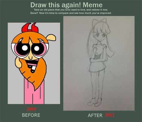 Powerpuff Girls Meme - powerpuff girl blossom draw this again meme by iamdying on