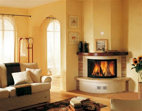 modern corner fireplace for warm living room homescorner