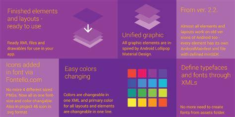 Material Design Vorlage Material Design Ui Android App Template