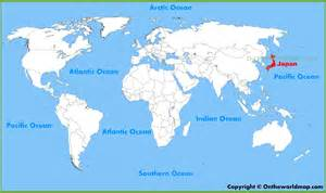 Tokyo On World Map by Japan Location On The World Map