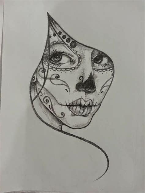 cornici bianco e nero teschi messicani tatto un disegno in bianco e nero della