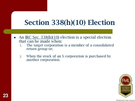 section 338 h 10 buying selling a business tax considerations