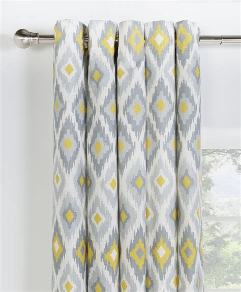ikat curtains uk collection kali ikat lined eyelet curtains 229x229cm