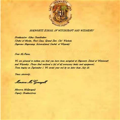 Hogwarts Acceptance Letter Black My Hogwarts Acceptance Letter Copy Created By Arie Polyvore