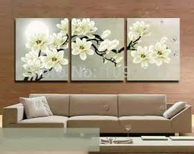 painted flower painting canvas 3 wall decor