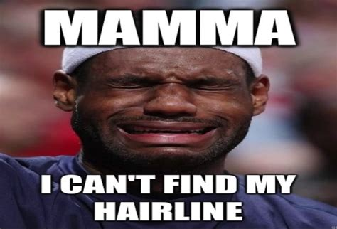 Where Can I Find Funny Memes - mama i can t find my hairline lebron james sports meme