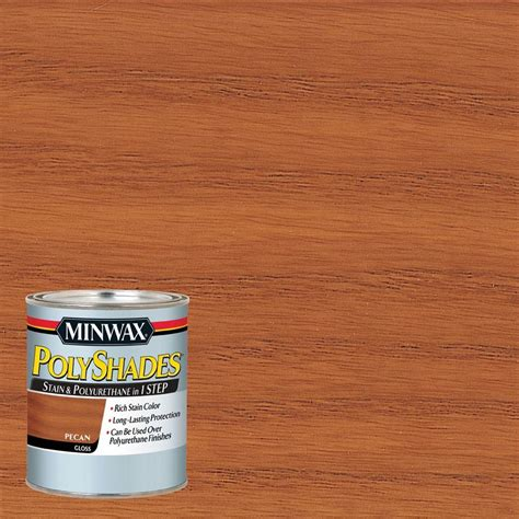 minwax 1 qt polyshades pecan gloss 1 step stain and
