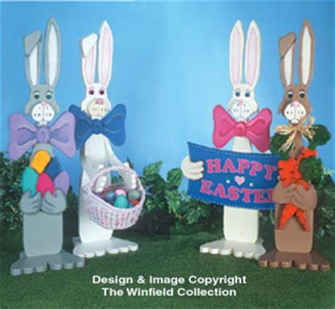 easter easter bunnies woodcraft pattern