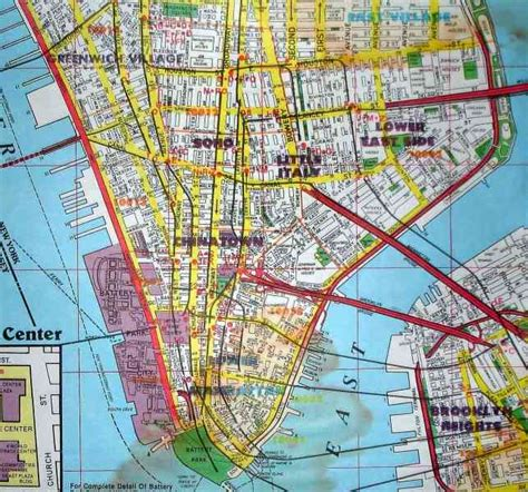 map downtown new york map of lower manhattan holidaymapq