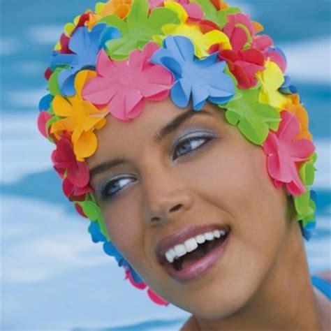 cuffia da bagno con fiori cuffia gomma con fiori multicolor