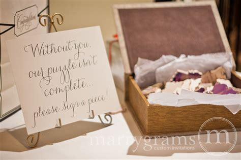 Sign In Book Wedding Puzzle Guest Book Sign Without You Our Puzzle Isn T