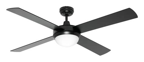 Mercator Black Ceiling Fan 1300mm 52 Quot 4 Blade With Light