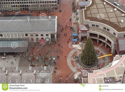 christmas tree boston quincy market tree at quincy market boston editorial image image 49638185