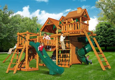 swing sets hunter s deluxe swing set children s wooden swing sets