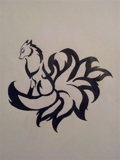9 tailed fox tattoo best 25 fox design ideas on fox design