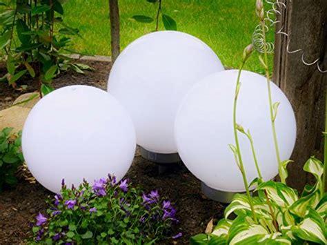 Gartenbeleuchtung Kugel Strom by Kugelleuchte 3er Set Gartenkugel Solar Led Test