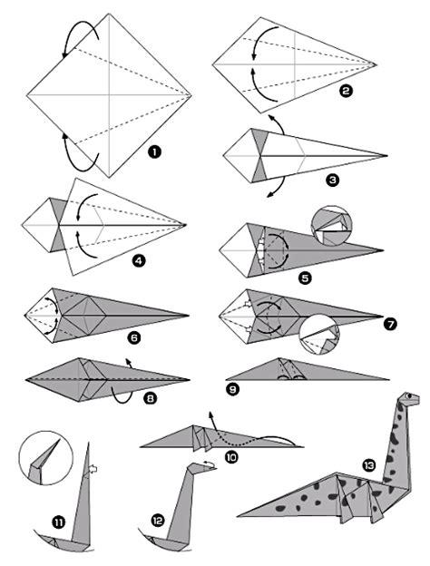 Origami Diplodocus - origami diplodocus origami day chaque jour origami
