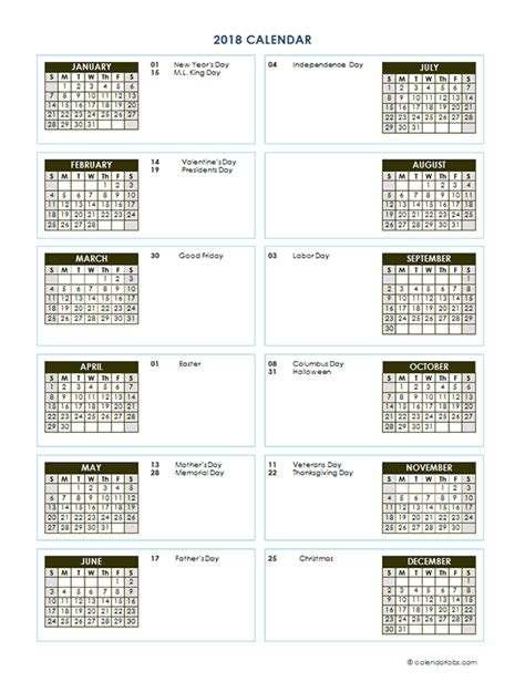 2018 yearly calendar template what day is thanksgiving 2018 100 images printable