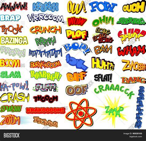 comic book picture effect retro comic book word collection vector photo bigstock
