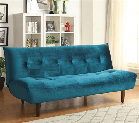 velvet sofa bed 500098 teal velvet tufted sofa bed from coaster 500098 coleman furniture